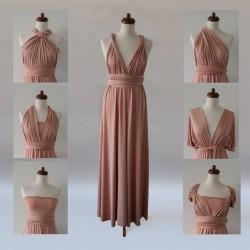 Dlouhé zlaté variabilní šaty Convertibles®