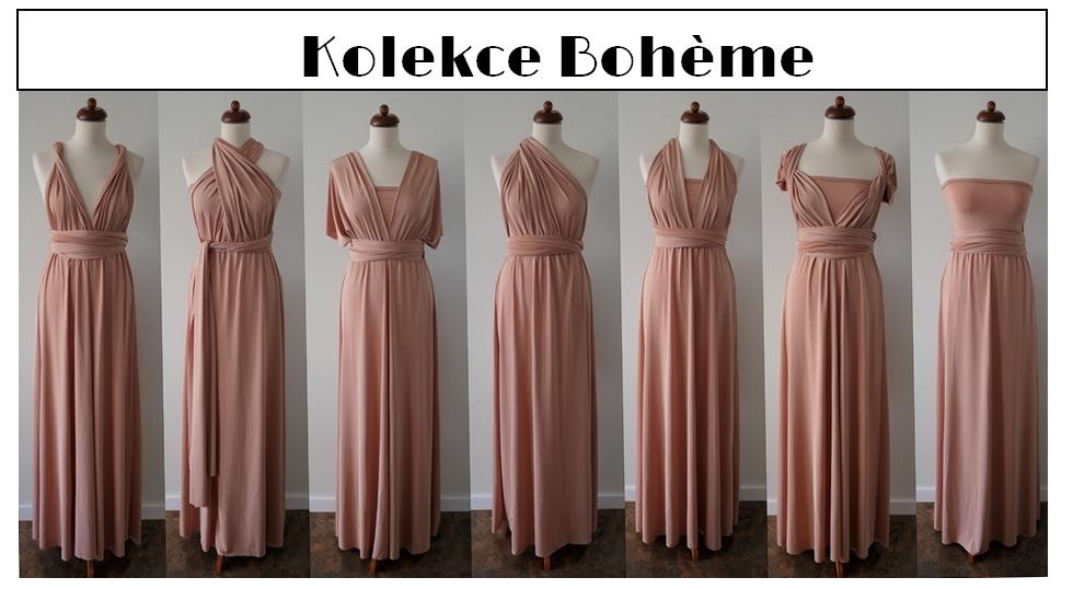 Variabilní šaty kolekce Boheme