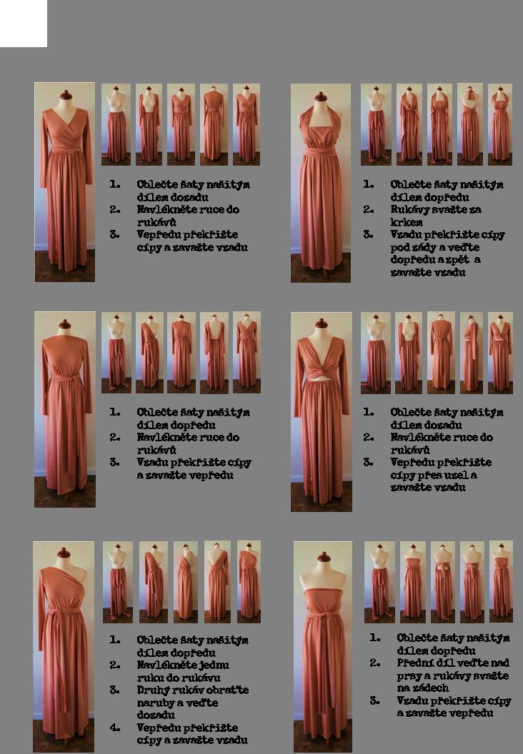 Vázání šatů kolekce Longevita