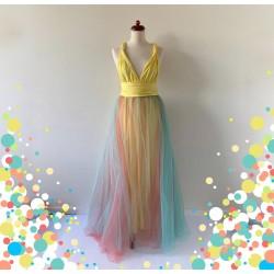 KOMPLET 3v1 dlouhých variabilních šatů kolekce Bohème a tylové sukně Convertibles®